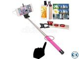 4 in 1 SELFIE STICK WITH WIDE ANGELE LENS.