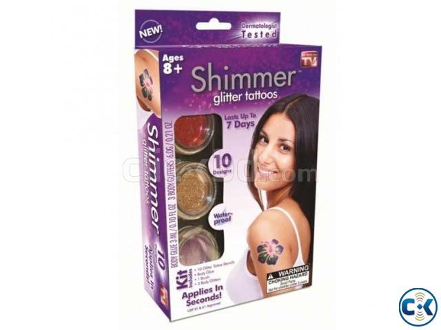 Shimmer Glitter Powder Tattoo Set-  | ClickBD large image 0