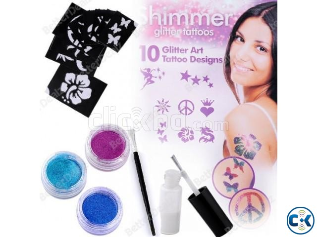 Shimmer Glitter Powder Tattoo Set-  | ClickBD large image 1