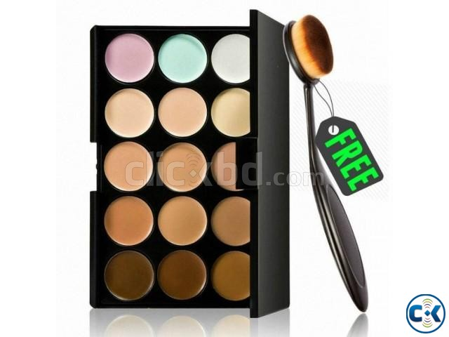 15 Colors Contour Kit With Free Oval Brush | ClickBD large image 0