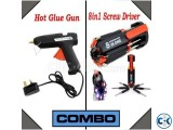 Combo of Hot Glue Gun 8 in 1 Screw Driver