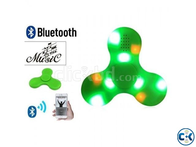 Bluetooth Speaker LED Fidget Spinner Toy - Green | ClickBD large image 0