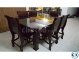 Mahogany Wood Dining Table with 6 Seats