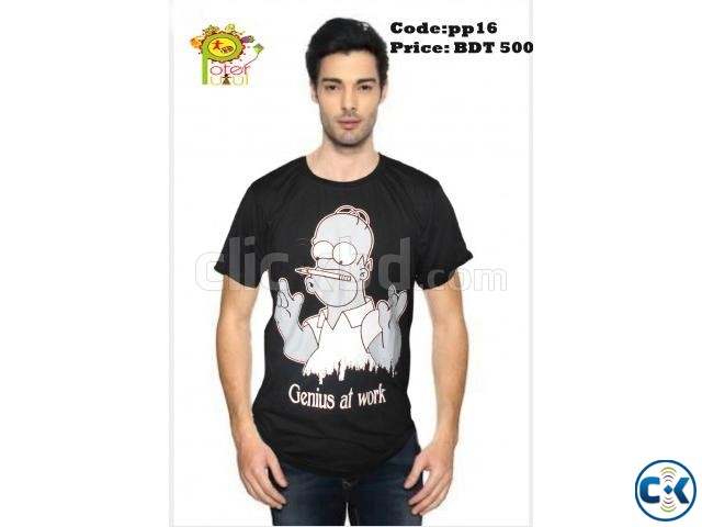 Trendy T-shirt for men | ClickBD large image 2