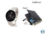 Combo Offer - Bariho men s Wrist Watch Men s Wallet