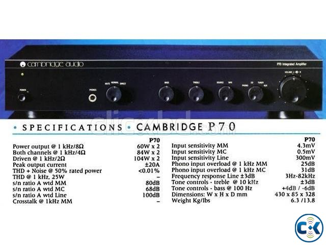 CAMBRIDGE AUDIO STEREO AMPLIFIER UK | ClickBD large image 0