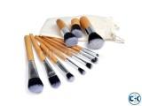 11pc Piece Luxury Bamboo Wooden Make Up Brush