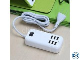 6 USB Port Wall Charger - White