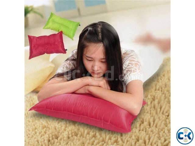Automatic Inflatable Air Cushion Pillow Portable | ClickBD large image 0