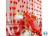 Heart sharp net Porda- 2pcs