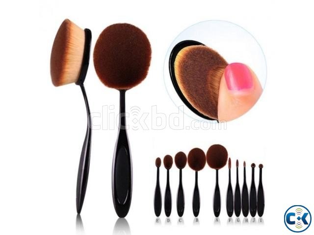 10Pcs Professional Makeup Brushes Set | ClickBD large image 0