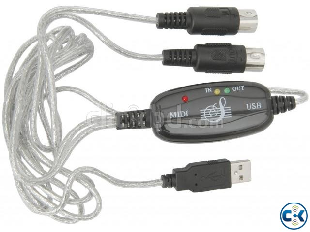 Midi To USB Cable for Keyboard Others NEW  | ClickBD large image 2