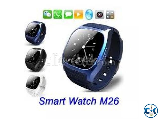 M26 Bluetooth Smart Watch Like Gear Blue  | ClickBD large image 1