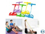 2-Tube Foot Pedal Pull Rope Resistance Exercise Sit-up