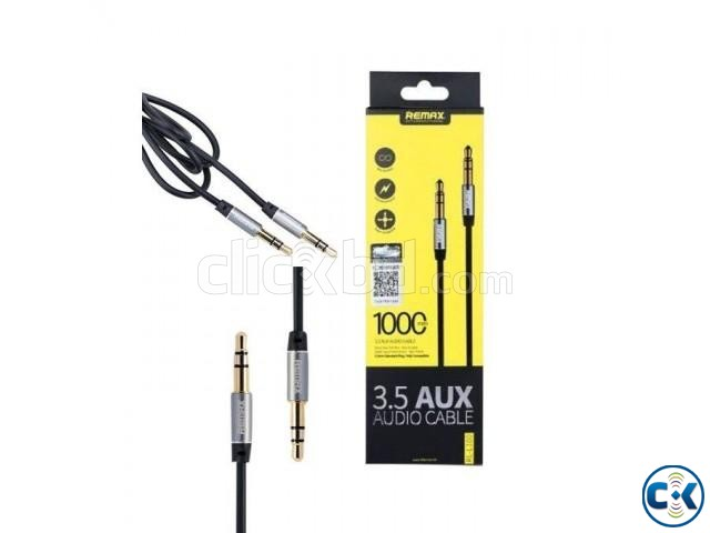 3.5Mm Aux Rm-L100 Male To Male Stereo Audio Cable | ClickBD large image 0