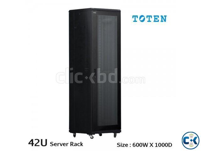 TOTEN Server Rack Cabinet 42U 600x1000mm Mesh Door | ClickBD large image 0