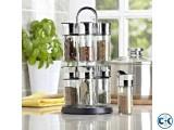 12 Jar Rotating Spice Jar
