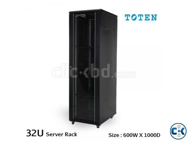 TOTEN 32U Server Rack Cabinet 600X1000mm Glass Door | ClickBD large image 0