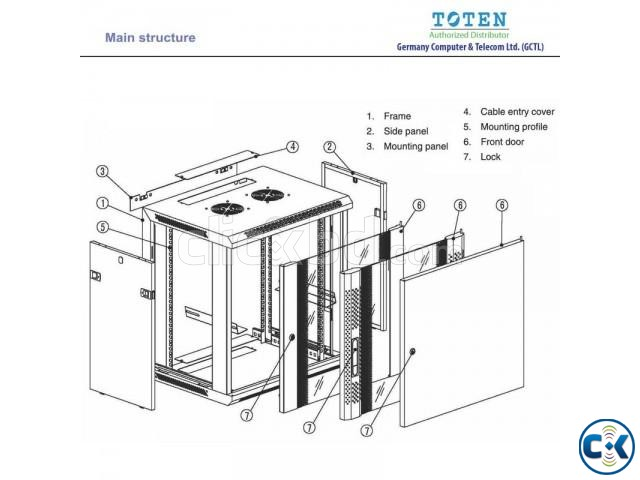 TOTEN 9U Server Rack Cabinet 600x600mm | ClickBD large image 3