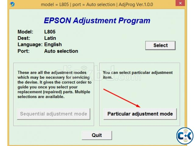 Epson L805 Reseter | ClickBD large image 0