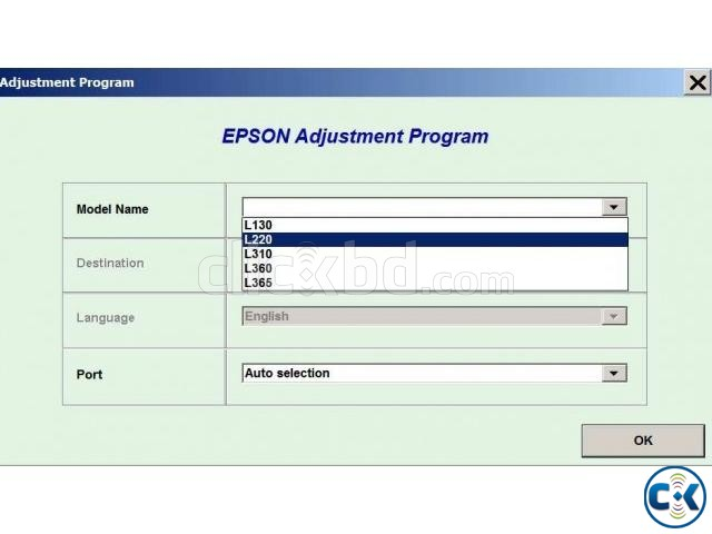 Epson L130 L220 resetter Software | ClickBD large image 0