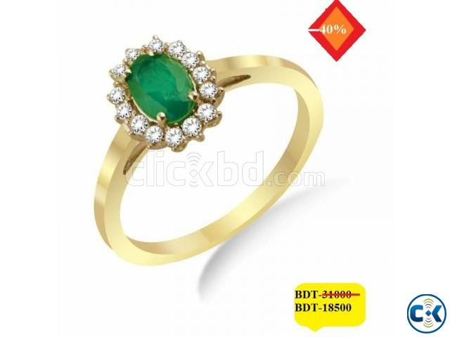 Diamond with Gold Ladies Ring 40 OFF | ClickBD large image 0