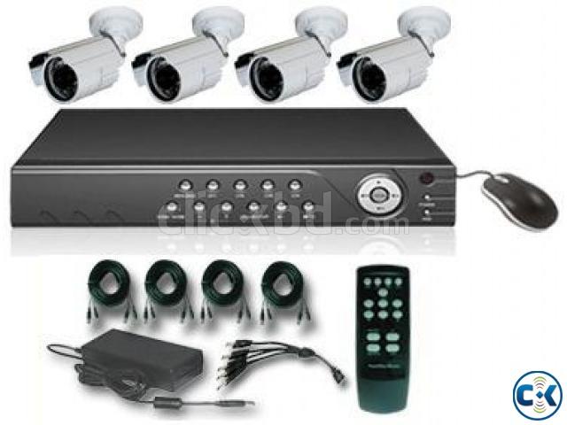 AHD CCTV CAMERA 4 PCS DVR 4 PORT  | ClickBD large image 0