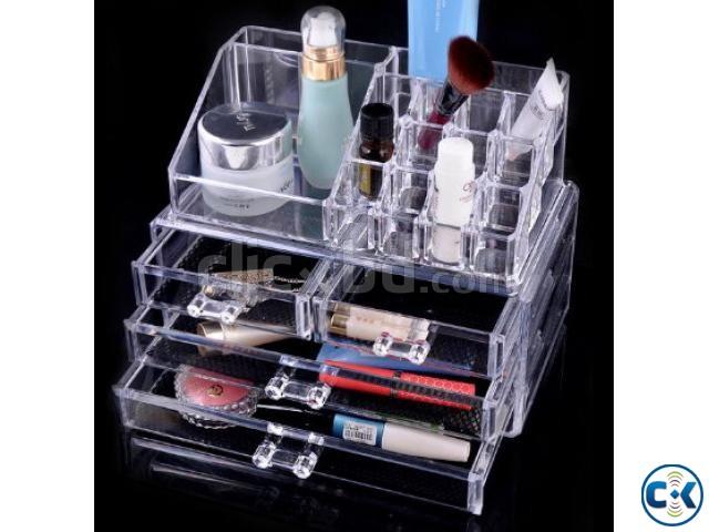 Acrylic makeup organizer drawers trays makeup storage box | ClickBD large image 0