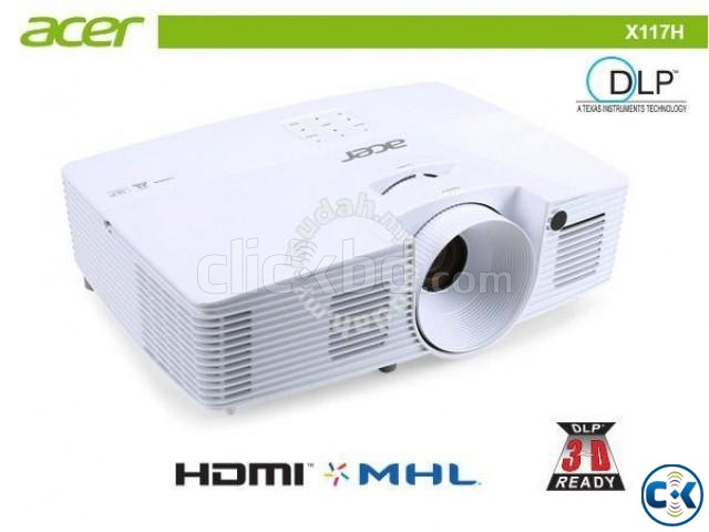 Acer X117H 3600 Lumens SVGA HDMI DLP Projector | ClickBD large image 0
