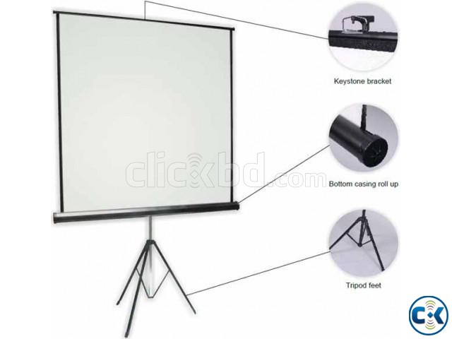 70 x 70 Tripod Screen for LCD Projector | ClickBD large image 0