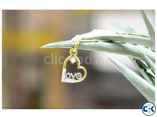 Diamond With Gold pendant | ClickBD large image 0