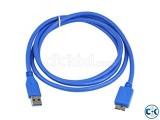 USB 3.0 Type A Male To B Micro Sync Hard Disk Cable- 1.5m