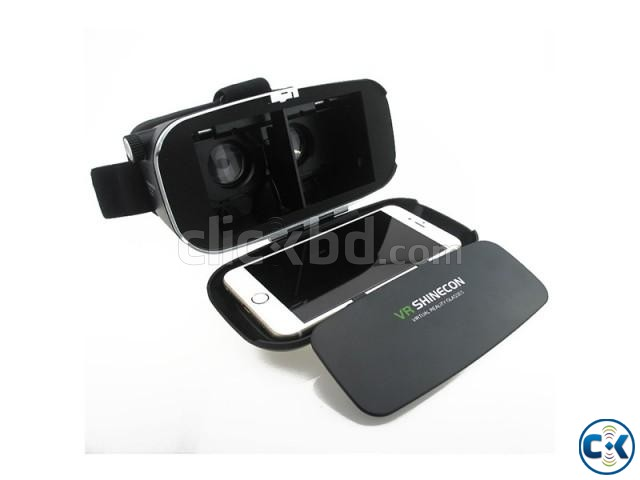 VR SHINECON 3D Virtual Reality Video Glasses - Black | ClickBD large image 1