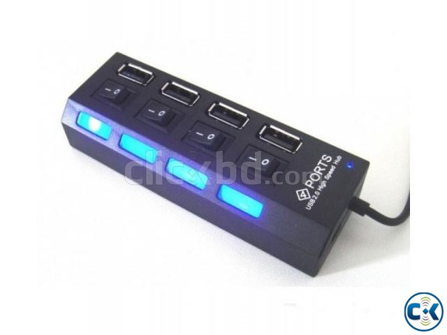 4 Ports USB 2.0 Hub With Switch | ClickBD large image 0