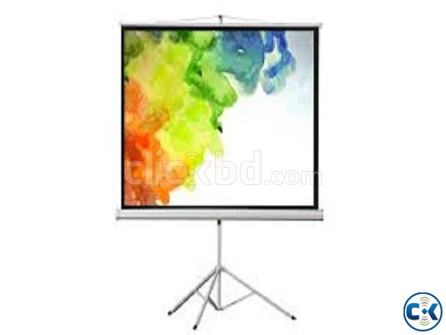 Tripod Projector Screen 70 x 70  | ClickBD large image 1