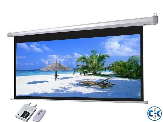 Electric Motorized Projector Screen 180  | ClickBD large image 0