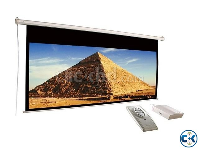 Electric Motorized Projector Screen 180  | ClickBD large image 1