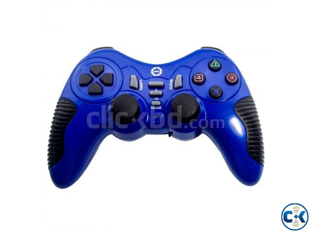 Dual Shock USB PC Wired Gamepad with Joystick | ClickBD large image 0