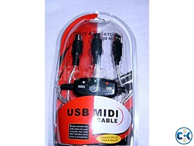 Midi To USB Cable for Keyboard Others NEW  | ClickBD large image 0