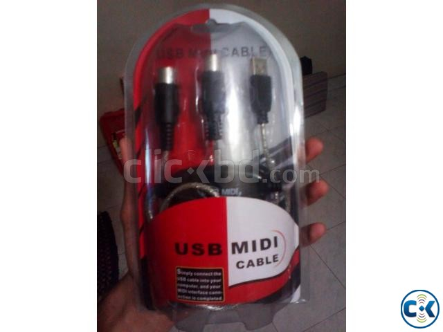 Midi To USB Cable for Keyboard Others NEW  | ClickBD large image 4