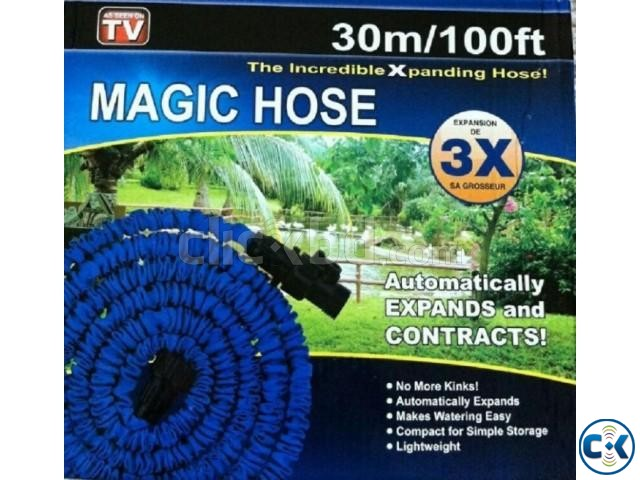 Magic Hose Pipe 100 Feet for Garden Car Wash 017185536300 | ClickBD large image 0