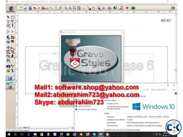 Gravostyle 6 Laserstyle 6 Work Windows 10 Pro 64 Bit | ClickBD large image 0