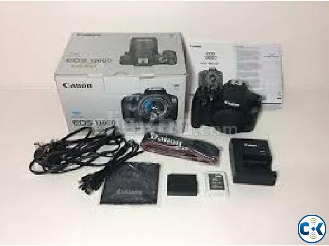 Canon EOS 1300D 18MP Digital SLR Camera Black  | ClickBD large image 0