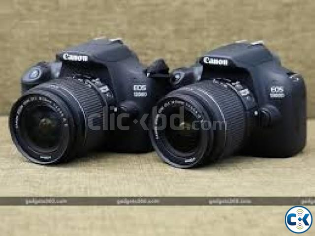 Canon EOS 1300D 18MP Digital SLR Camera Black  | ClickBD large image 1