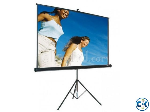 70 x 70 Tripod Screen for LCD Projector   ClickBD large image 0