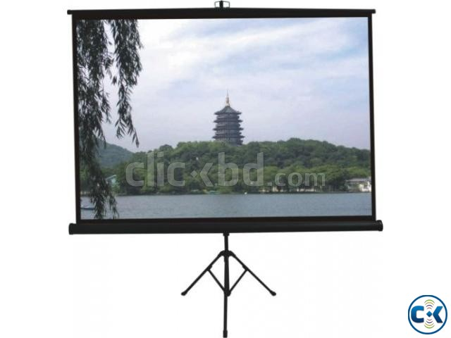 70 x 70 Tripod Screen for LCD Projector   ClickBD large image 1