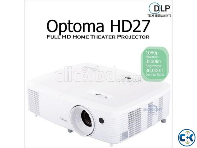 Optoma HD27 Full HD 1080p Home Theater Projector | ClickBD large image 1