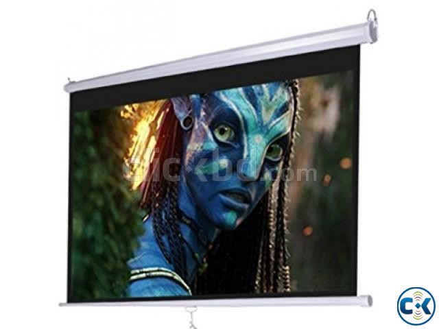 Wall and Ceiling Projector Screen 84 X 84  | ClickBD large image 0