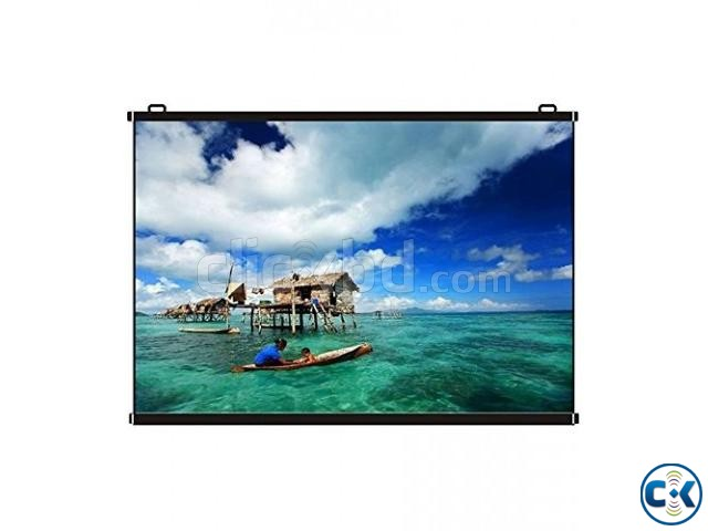 Manual Wall And Ceiling Projector Screen 150  | ClickBD large image 1