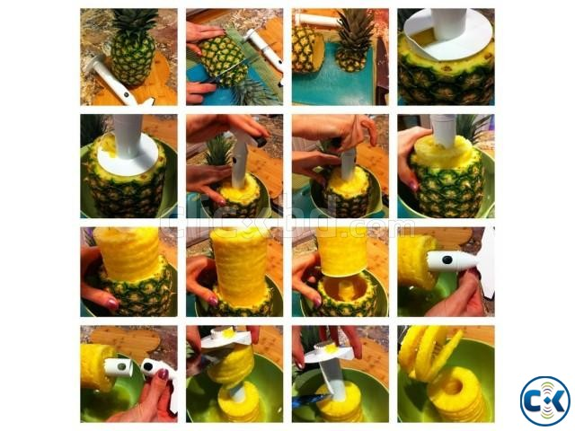 3in1 Heavy Pineapple Corer Slicer Peeler-  | ClickBD large image 4